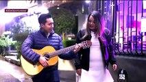 ¡Flechado de Karime la sorprende con una canción! | Enamorándonos