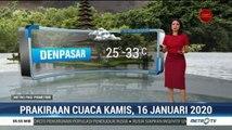 Prakiraan Cuaca, Kamis 16 Januari 2020