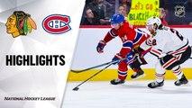 NHL Highlights   Blackhawks  @ Canadiens 01/15/20