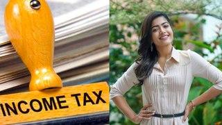 Income Tax ride on  Rashmika Mandanna house.  | FILMIBEATN KANNADA