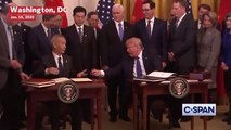 Donald Trump Signs 'Phase One' Of Trade Agreement With China To Ease Trade War