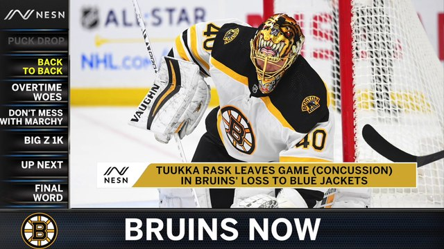 Bruins Now: B's Overtime Woes Continue; Tuukka Rask Injured In Loss