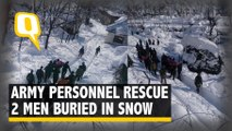 Army Personnel Rescue 2 Civilians From Avalanche