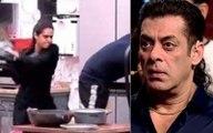 Bigg Boss 13 Madhurima Tuli Smacks Vishal Aditya Singh With A Pan Furious Salman Khan To Throw Her Out This Weekend Ka Vaar