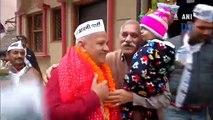 Delhi polls: Manish Sisodia takes out 'Padayatra' ahead of filing nomination