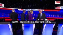Bernie Sanders et Elizabeth Warren filmés en train de se traiter de menteurs à la fin du dernier débat avant la primaire démocrate