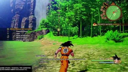 KAKAROT : partie de pêche avec San Gohan (gameplay)
