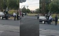 """""""¡Se te cayó el muerto, pa!"""": un coche fúnebre perdió el cajón en plena avenida de Merlo"""