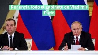 Renuncia todo el gabinete de Vladimir Putin