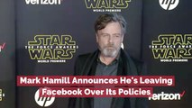 Mark Hamill Stands Against Facebook