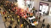 Manifestation avec DJ et sono contre la réforme des retraites à Avignon