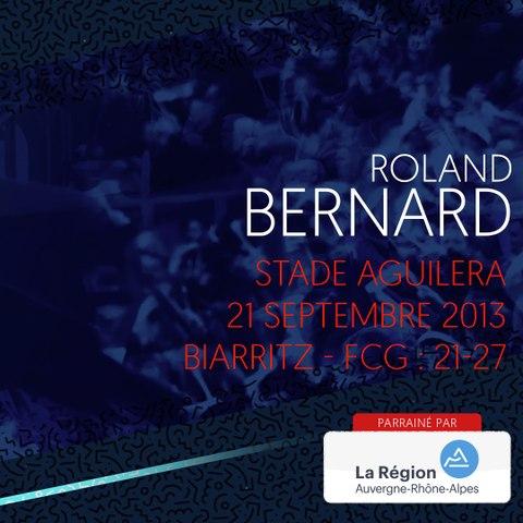 Rugby : Video - L'essai de Roland Bernard à Biarritz en 2013