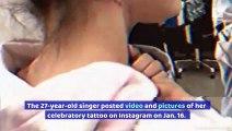 Selena Gomez Celebrates 'Rare' Album With New Neck Tattoo