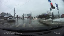 Red Light Runner Swiped in Russia