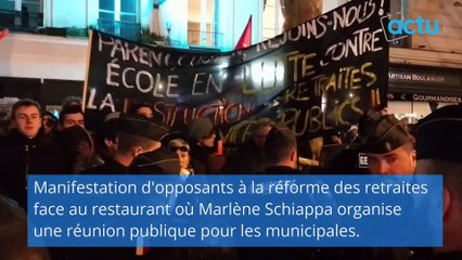 Marlène Schiappa obligée de quitter une réunion publique