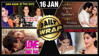 Love Aaj Kal 2 POSTER, Varun Natasha's Wedding Date, Rangoli SUPPORTS Zaira   Top 10 News