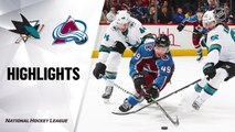 NHL Highlights | Sharks @ Avalanche 01/16/20