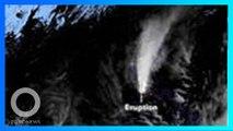 菲塔爾火山噴出煙流之大 連太空衛星都看得見