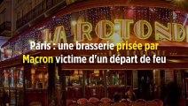 Paris : une brasserie prisée par Macron victime d'un départ de feu