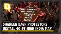 40-Feet-High Iron Map of India Installed at Shaheen Bagh