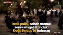 İsrail polisi Mescid-i Aksa'yı bastı, Filistinlilere saldırdı