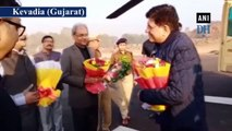 Piyush Goyal visits Statue of Unity in Gujarat