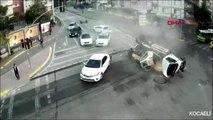 Kocaeli'nde 3 kişinin yaralandığı kazanın mobese görüntüleri ortaya çıktı