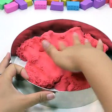 Learn Colors with Kinetic Sand MCQueen Cars w Slime How To Make Toy Model for Kids
