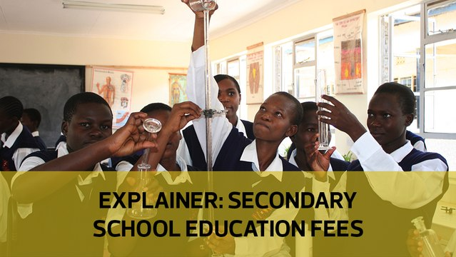 Explainer: Secondary school education fees