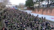 Manifestation des pompiers alsaciens