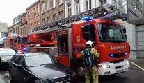 Incendie rue de Mangombroux à Verviers