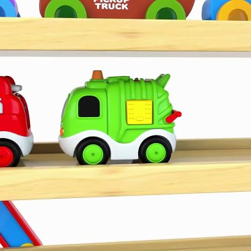 Colors For Children To Learn With Car Transporter Toy Street Vehicles