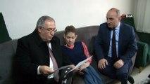 Hidrosefali hastalığı bulunan öğrenciye karnesini Vali Ahmet Nayir verdi