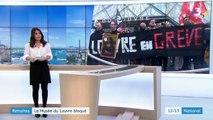 Réforme des retraites : des grévistes bloquent l'accès au Musée du Louvre