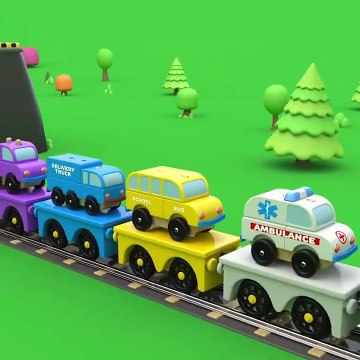 Fun Play With Toy Train And Lifting And Parking Street Vehicles Toys  Educational Videos