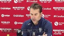 Julen Lopetegui, entrenador del  Sevilla FC, habla sobre el encuentro frente al Real Madrid de este fin de semana