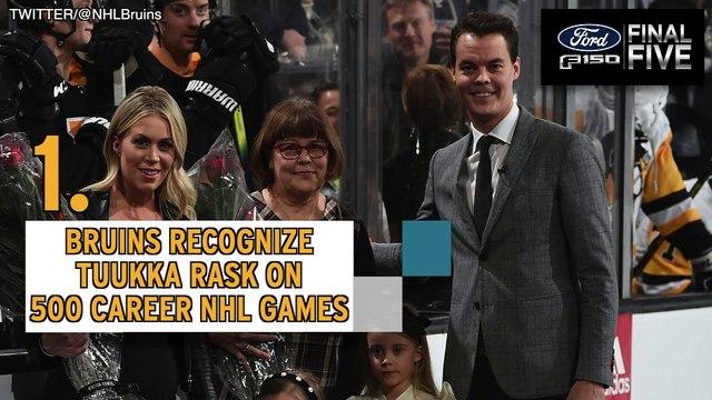 Ford Final Five: Bruins Top Penguins As Tuukka Rask Honored Pregame