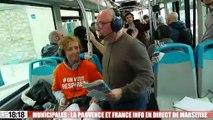 Municipales : France Info et La Provence dans un bus de la RTM