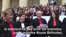 """A Bordeaux, """"A cause de Macron"""" est adaptée par les avocats en grève"""