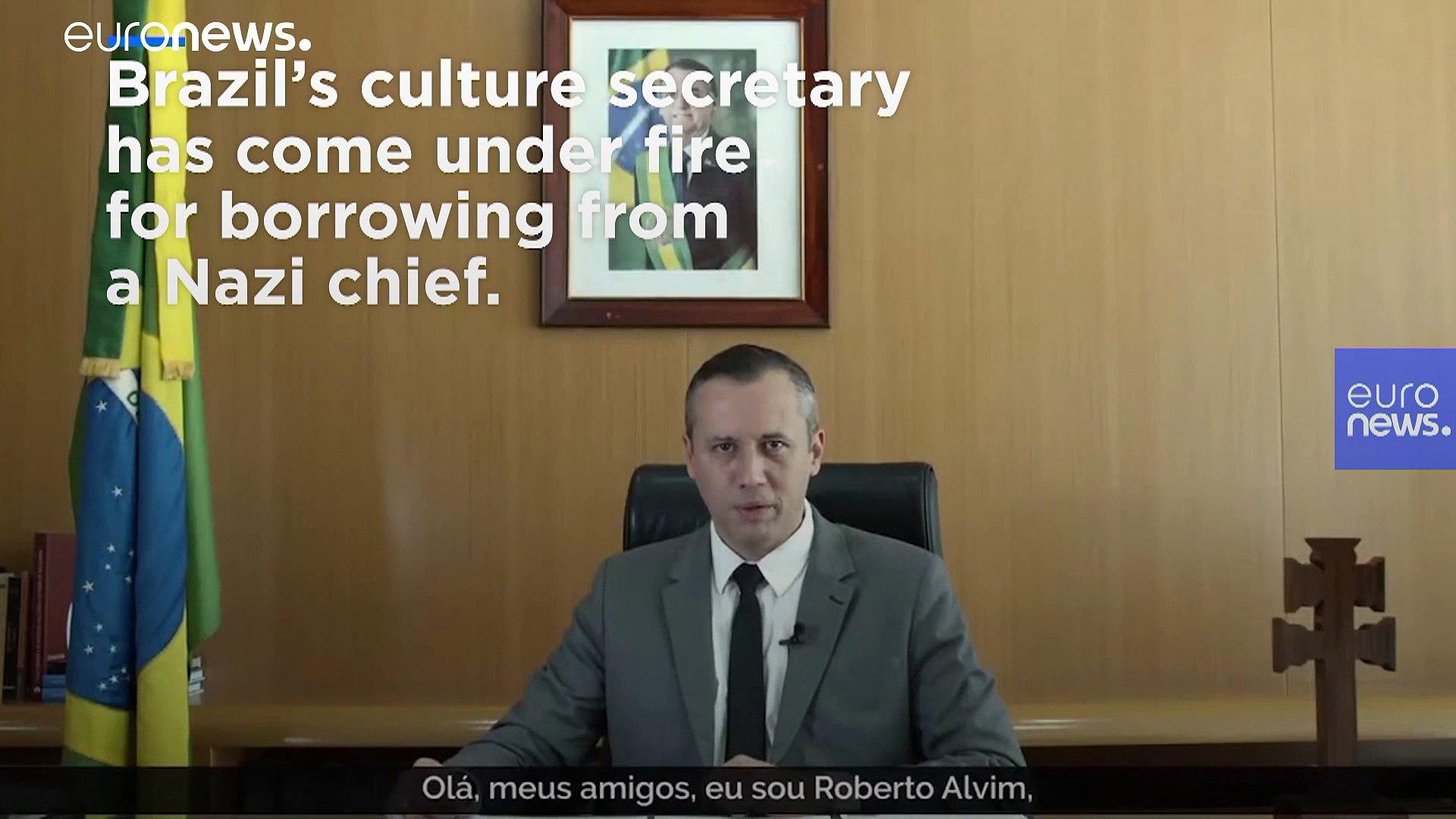Joseph Goebbels Quote Controversy Brazil Culture Chief Roberto Alvim Sparks Anger In Video