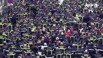 Strasbourg: fatigués des agressions, près d'un millier de pompiers dans la rue