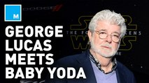 George Lucas finally met Baby Yoda and Star Wars fans are loving it