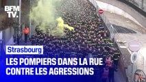 Strasbourg: les pompiers dans la rue contre les agressions dont ils sont la cible
