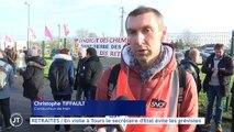 RETRAITES En visite à Tours le secrétaire d'Etat évite les grévistes