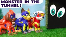 Paw Patrol Mighty Pups Tunnel Monster with Funny Funlings and DC Comics The Joker Full Episode English