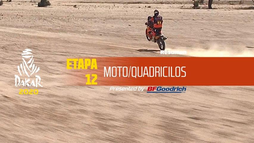 Dakar 2020 - Etapa 12 (Haradh / Qiddiya) - Resumen Moto/Quadriciclos