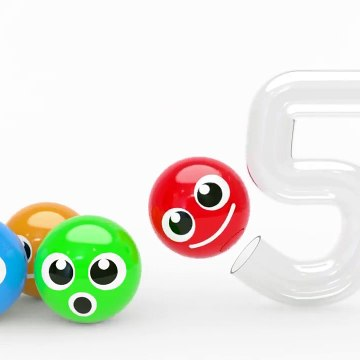 Learning Numbers with 3D Pacman and 123 for Kids