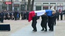 Lyon : Castaner rend hommage au policier Franck Labois