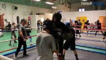AGDE - Le Président de la ligue en visite au club de boxe des patrac's brother