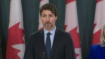 """Justin Trudeau à propos du crash d'un Boeing en Iran: """"Nous attendons de l'Iran qu'il indemnise les familles des victimes"""""""